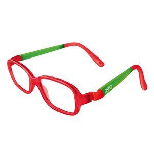 Nano NAO50004  Re-Play Kids Eyeglasses Red Trans/Glowing Green Eye Size 42-15