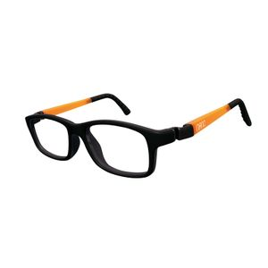 Nano NAO571444 Crew Kids Eyeglasses Matt Black/Glowing Orange Eye Size 44-16