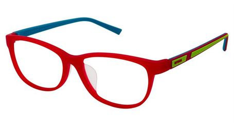 Crocs JR069 Kids Eyeglasses 15TV Bright Red/Lime Green
