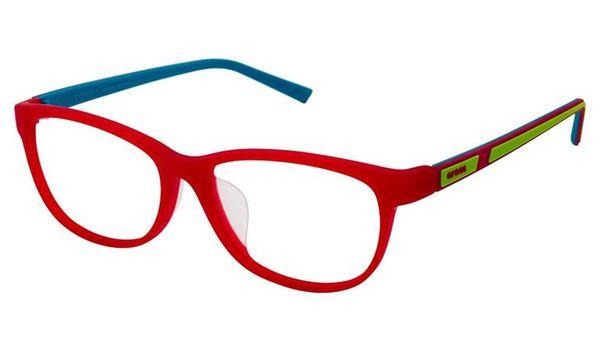 Crocs JR069 Kids Eyeglasses 15TV Bright Red/Lime Green