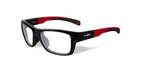 Wiley X Youth Force WX Crush YFCRS01 Kids Sports Glasses Gloss Black/Red