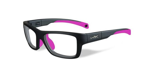 99c90671ed922 Wiley X Youth Force WX Crush YFCRS03 Kids Sports Glasses Matte Grey Deep  Pink YFCRS03 - Optiwow