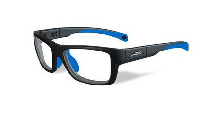 ac9688eb25b4 Wiley X Youth Force WX Crush YFCRS05 Kids Sports Glasses Matte Grey Blue  YFCRS05 - Optiwow