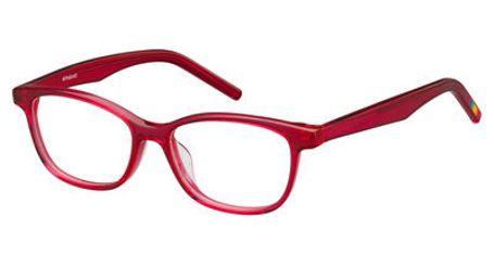 Polaroid Kids PLD D802 0ILZ Transparent Cherry Kids Eyeglasses