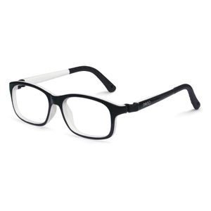 Nano NAO521346 Arcade Kids Eyeglasses Black/White Eye Size 46-17