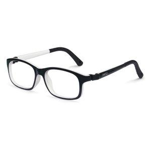 Nano NAO521348 Arcade Kids Eyeglasses Black/White Eye Size 48-17