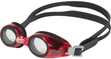 Leader xRx Eyeglasses Custom Rx-able Kids Swim Goggle Junior w/Rx Cherry/Black