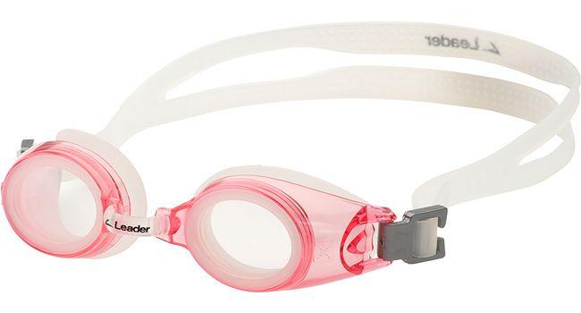 ebee7d701ebc Leader xRx Eyeglasses Custom Rx-able Kids Swim Goggle Junior w Rx Pink