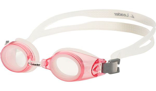 Leader xRx Eyeglasses Custom Rx-able Kids Swim Goggle Junior w/Rx Pink
