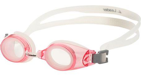 Leader xRx Eyeglasses Custom Rx-able Kids Swim Goggle Junior w/Rx Pink