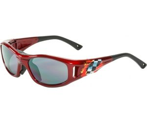 C2 Hilco Leader Kids Sports Saftey Glasses  Finish Line Red