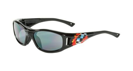 C2 Hilco Leader Kids Sports Saftey Glasses  Finish Line Black
