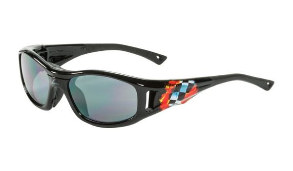 C2 Hilco Leader Kids Sports Saftey Glasses  Finish Line Black