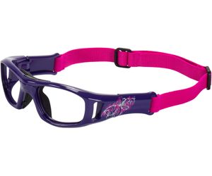 C2 Hilco Leader Kids Sports Saftey Glasses Free Spirit Purple with Strap