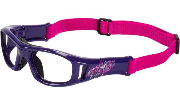 C2 Hilco Leader Kids Sports Saftey Glasses Free Spirit Purple with Strap