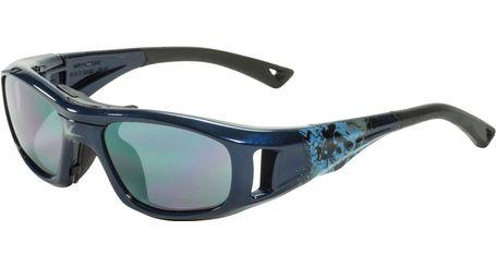 C2 Hilco Leader Kids Sports Saftey Glasses Twisted Skull Navy