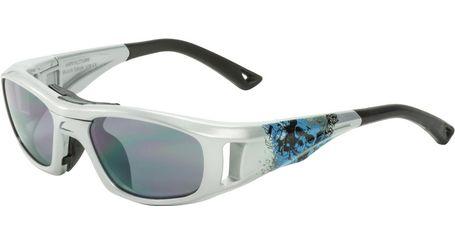 C2 Hilco Leader Kids Sports Saftey Glasses Twisted Skull Silver