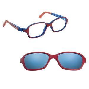 Nano NAO50020SC Re-Play Kids Eyeglasses Matte Dk Red/Navy Eye Size 42-15