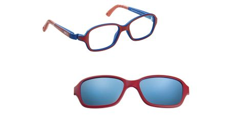 Nano NAO50120SC Re-Play Kids Eyeglasses Matte Dk Red/Navy Eye Size 44-16