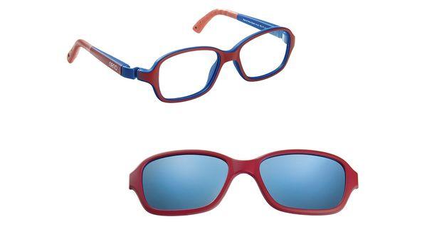 Nano NAO50120SC Re-Play Kids Eyeglasses Matte Dk Red/Navy Eye Size 44-16 (6-8 Years)