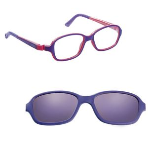 Nano NAO50035SC Re-Play Kids Eyeglasses Matte Purple/Pink Eye Size 42-15