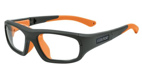 Versport VX985221 Zeus Kids Sports Goggles Mt Grey/Orange Eye Size 52-18