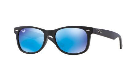 Ray-Ban Junior New Wayfarer RJ9052S Sunglasses Matte Black/Blue Mirror Lenses100S55