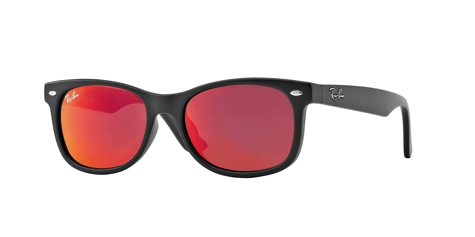 db0a4adb52a63 ... best price ray ban rj9052s new wayfarer junior sunglasses black red  mirror 7aa4a 453a2