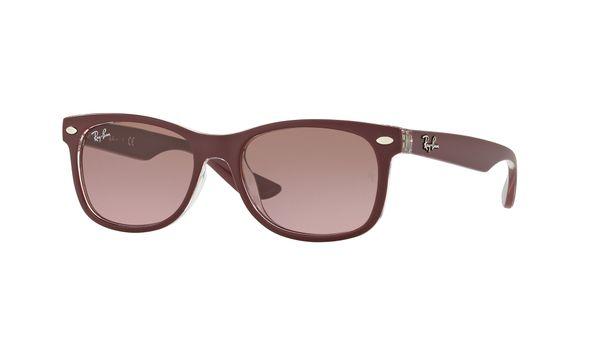 Ray-Ban RJ9052S New Wayfarer Junior Sunglasses Bordeaux/Violet Brown Gradient
