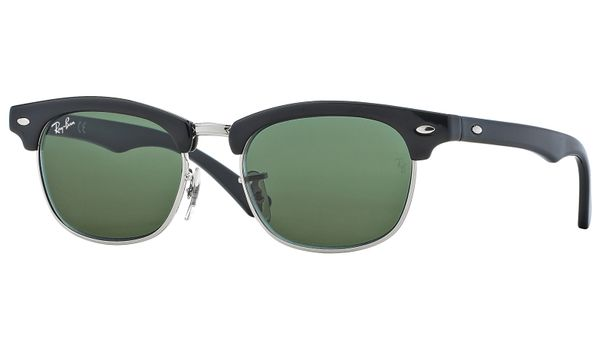 Ray-Ban Junior Clubmaster RJ9050S Kids Sunglasses Black/Green Lenses 100/71