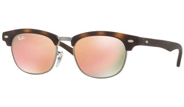 Ray-Ban Junior Clubmaster RJ9050S Kids Sunglasses Tortoise/Copper Mirror Lenses 70182Y
