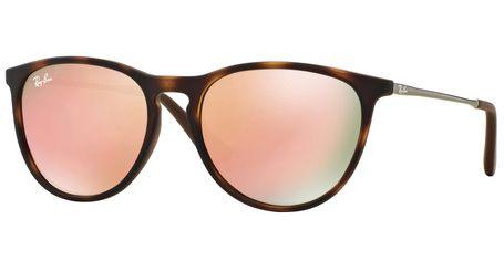 Ray-Ban Junior Erika RJ9060S Kids Sunglasses Havana Rubber/Dark Brown Lenses 70062Y
