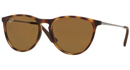 Ray-Ban Junior Erika RJ9060S Kids Sunglasses Rubber Havana/Dark Brown Lenses 700673