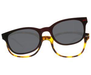 a35f7fa957c iGreen Plus-03 C07M Kids Eyeglasses Matt Havana Matt Crystal Clip Polarized  Dk Brown