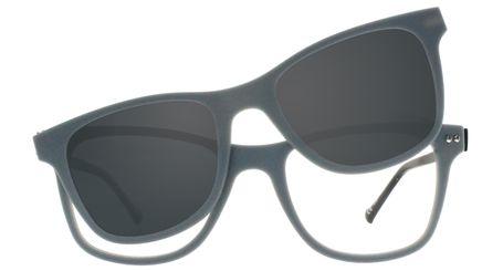iGreen Plus-07 C08M Kids Eyeglasses Matt Gray/Matt Black Clip Polarized Matt Gray