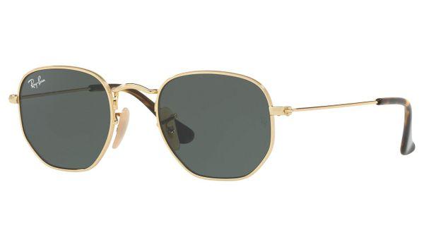 Ray-Ban RJ9541SN Kids Junior Sunglasses Gold/Green Classic