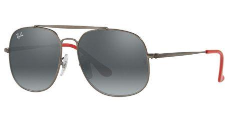 Ray-Ban Junior RJ9561S Kids Sunglasses Matte Gunmetal/Grey Mirror Silver Gradient Lenses 250/88