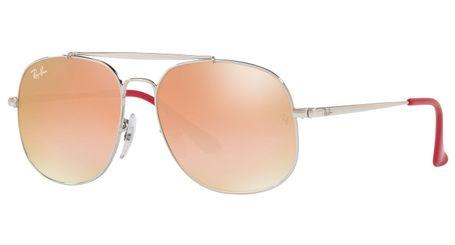 Ray-Ban Junior RJ9561S Kids Sunglasses Silver/Green Gradient Brown Mirror Lenses 266/B9