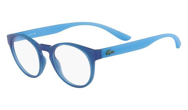 Lacoste L3910-424 Kids Eyeglasses Blue with Azure Phospho Temple