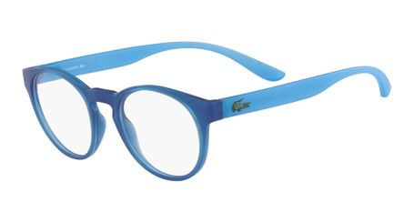 Lacoste L3910-424 Kids Eyeglasses Blue with Azure Phospho Temple