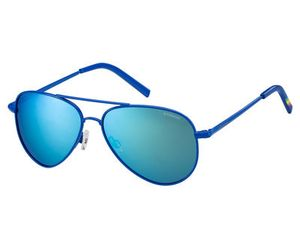 Polaroid Kids PLD-8015/N Sunglasses Polarized Blue/Gray Blue Mirror 0201-JY