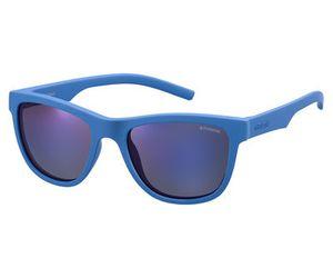 Polaroid Kids PLD-8018/S Sunglasses Polarized Blue/Gray Blue Mirror 0ZDI-JY