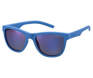 Polaroid Kids PLD-8018/S Sunglasses Polarized Blue/Gray Blue Mirror 0ZDI-JY