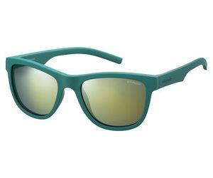 Polaroid Kids PLD-8018/S Sunglasses Polarized Green/Gray Gold Mirror 0VWA-LM
