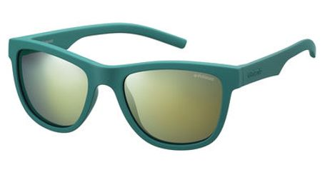 Polaroid Kids PLD-8018/S Sunglasses Polarized Green/Gray Gold Mirror 0VWA-LM