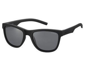 Polaroid Kids PLD-8018/S Sunglasses Polarized Rubber Black/Gray Mirror 0YYV-Y2