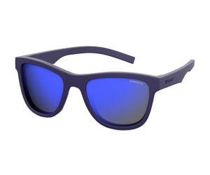 Polaroid Kids PLD-8018/S Sunglasses Polarized Rubber Blue/Gray Blue Mirror 0CIW-JY