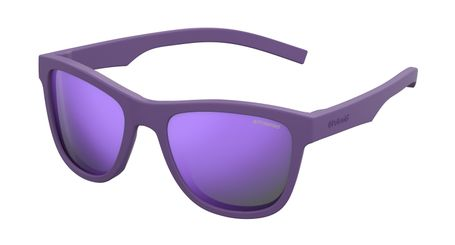 Polaroid Kids PLD-8018/S Sunglasses Polarized Rubber Violet/Purple 02Q1-MF