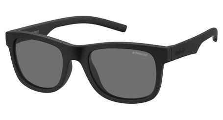 Polaroid Kids PLD-8020/S Sunglasses Polarized 0YYV-Y2 Rubber Black/Grey