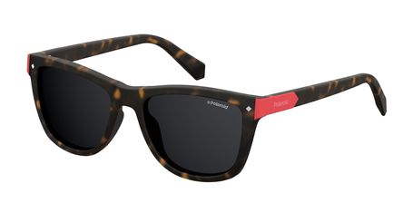 Polaroid Kids PLD-8025/S Sunglasses Polarized 0N9P-M9 Matte Havana/Gray